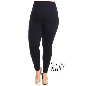 High Waist Compression Legging French Terry Lining